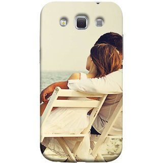 FUSON Designer Back Case Cover for Samsung Galaxy Win I8550 :: Samsung Galaxy Grand Quattro :: Samsung Galaxy Win Duos I8552 (Beautiful Husband Wife Lovers Valentines Sitting Sea Shore)