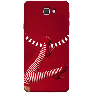 FUSON Designer Back Case Cover for Samsung Galaxy On Nxt (2016) (High Heel Red And White Socks Beautiful Legs Girl)