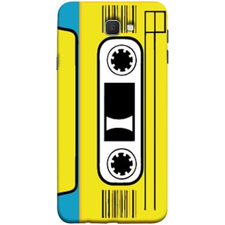 FUSON Designer Back Case Cover for Samsung Galaxy On Nxt (2016) (Tape Cassette Black Film Screws Old Player)