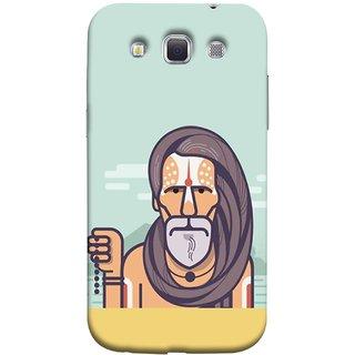 FUSON Designer Back Case Cover for Samsung Galaxy Win I8550 :: Samsung Galaxy Grand Quattro :: Samsung Galaxy Win Duos I8552 (Himalaya Sadhu Kumbh Mela Beard Rudraksh Mala)