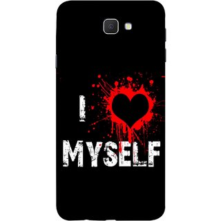 FUSON Designer Back Case Cover for Samsung Galaxy On Nxt (2016) (I Love Myself Bloody Heart Black Background)