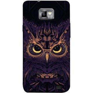 FUSON Designer Back Case Cover for Samsung Galaxy S2 I9100 :: Samsung I9100 Galaxy S Ii (Big Eye Danger Perfect Owl Bird Mysterious)