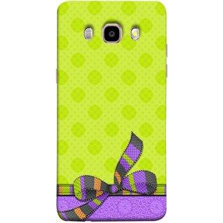 FUSON Designer Back Case Cover for Samsung Galaxy On8 Sm-J710Fn/Df (Pista Green Colour Gift Wrap Packing Wallpaper)