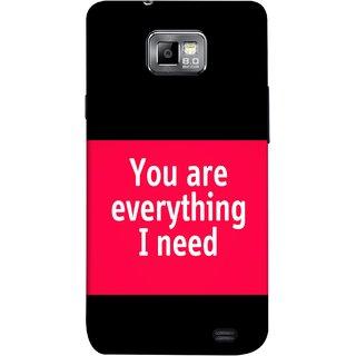 FUSON Designer Back Case Cover for Samsung Galaxy S2 I9100 :: Samsung I9100 Galaxy S Ii (Tu Tum Aap Mere Liye Sub Kuch Maze Vishwa )
