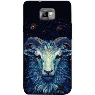 FUSON Designer Back Case Cover for Samsung Galaxy S2 I9100 :: Samsung I9100 Galaxy S Ii (Bail Goat Horn Strong Bakara Style Design)