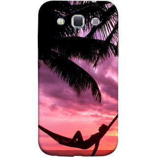 FUSON Designer Back Case Cover for Samsung Galaxy Win I8550 :: Samsung Galaxy Grand Quattro :: Samsung Galaxy Win Duos I8552 (Sunset Beach Hammock Chillout Wallpapers Palmtrees)
