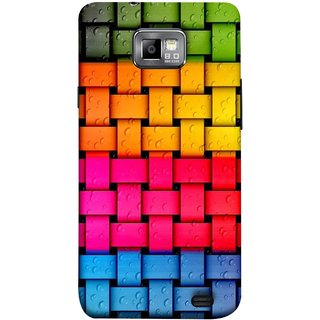 FUSON Designer Back Case Cover for Samsung Galaxy S2 I9100 :: Samsung I9100 Galaxy S Ii (Bright And Beautiful Colour Strips And Band Glossy)