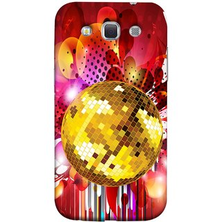 FUSON Designer Back Case Cover for Samsung Galaxy Win I8550 :: Samsung Galaxy Grand Quattro :: Samsung Galaxy Win Duos I8552 (Music Disco Party Poster Red Shiny Abstract Party Design)