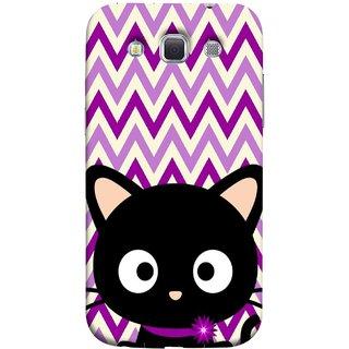 FUSON Designer Back Case Cover for Samsung Galaxy Win I8550 :: Samsung Galaxy Grand Quattro :: Samsung Galaxy Win Duos I8552 (Cat Mau Pillu Blackcat Purple Waves Triangle )