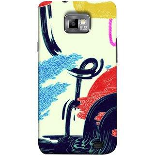 FUSON Designer Back Case Cover for Samsung Galaxy S2 I9100 :: Samsung I9100 Galaxy S Ii (Multicolour Waterfall Oilpaint Blue Rajhans Locket)