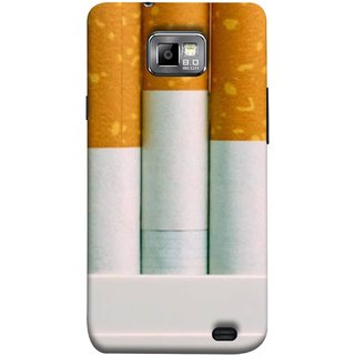 FUSON Designer Back Case Cover for Samsung Galaxy S2 I9100 :: Samsung I9100 Galaxy S Ii (Pack Of Cigarettes With Cigarettes Sticking Out )