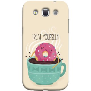 FUSON Designer Back Case Cover for Samsung Galaxy Win I8550 :: Samsung Galaxy Grand Quattro :: Samsung Galaxy Win Duos I8552 (Donut Strawberry Flavor Sinking In Hot Chocolate)