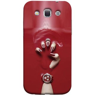 FUSON Designer Back Case Cover for Samsung Galaxy Win I8550 :: Samsung Galaxy Grand Quattro :: Samsung Galaxy Win Duos I8552 (Lady Hand With Maroon Watch Nail Polish )
