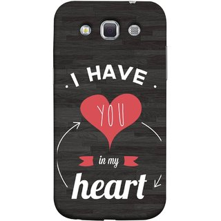 FUSON Designer Back Case Cover for Samsung Galaxy Win I8550 :: Samsung Galaxy Grand Quattro :: Samsung Galaxy Win Duos I8552 (Love Circle Life Long You Always In My Hearts)