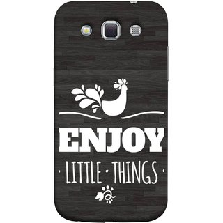 FUSON Designer Back Case Cover for Samsung Galaxy Win I8550 :: Samsung Galaxy Grand Quattro :: Samsung Galaxy Win Duos I8552 (Nice Beautiful Peacock Design With Texts In White)