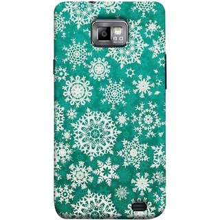 FUSON Designer Back Case Cover for Samsung Galaxy S2 I9100 :: Samsung I9100 Galaxy S Ii (Different Size Winter Snow Enjoying Ornaments Green)
