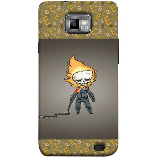 FUSON Designer Back Case Cover for Samsung Galaxy S2 I9100 :: Samsung I9100 Galaxy S Ii (Chain Chronicle Weeping Fire Sprite Background)