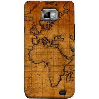 FUSON Designer Back Case Cover for Samsung Galaxy S2 I9100 :: Samsung I9100 Galaxy S Ii (World Map Altitude And Longitude Countries India )