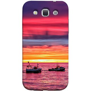 FUSON Designer Back Case Cover for Samsung Galaxy Win I8550 :: Samsung Galaxy Grand Quattro :: Samsung Galaxy Win Duos I8552 (Red Sky Horizon Fishing Boats Sun Shining Happy)