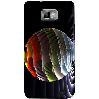 FUSON Designer Back Case Cover for Samsung Galaxy S2 I9100 :: Samsung I9100 Galaxy S Ii (Red Bubbles Unique Whimsical Fantasy Fine Art Spots)