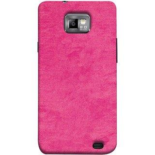 FUSON Designer Back Case Cover for Samsung Galaxy S2 I9100 :: Samsung I9100 Galaxy S Ii (Cloth Design Dark Pink Baby Maroon Paper Sheet )