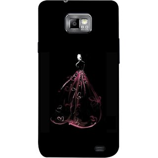 FUSON Designer Back Case Cover for Samsung Galaxy S2 I9100 :: Samsung I9100 Galaxy S Ii (Cloth Design Dark Pink Baby Maroon Paper Sheet )