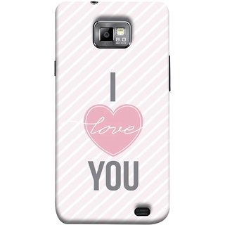 FUSON Designer Back Case Cover for Samsung Galaxy S2 I9100 :: Samsung I9100 Galaxy S Ii (Just Pinky Say Always I Love You Red Hearts Couples)