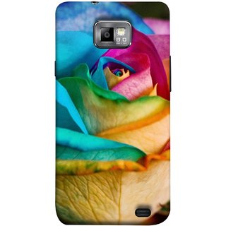 FUSON Designer Back Case Cover for Samsung Galaxy S2 I9100 :: Samsung I9100 Galaxy S Ii (Rose Colours Red Pink Yellow Blue Lovely Roses)