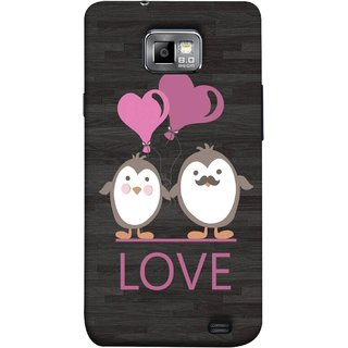 FUSON Designer Back Case Cover for Samsung Galaxy S2 I9100 :: Samsung I9100 Galaxy S Ii (Feeling Loved With Each Other Valentine Day)