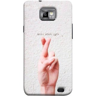 FUSON Designer Back Case Cover for Samsung Galaxy S2 I9100 :: Samsung I9100 Galaxy S Ii (Always Wish You Best Success Happy Palm )