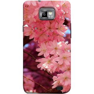 FUSON Designer Back Case Cover for Samsung Galaxy S2 I9100 :: Samsung I9100 Galaxy S Ii (Flowering Cherry Trees Pink Perfection Lovely Love )