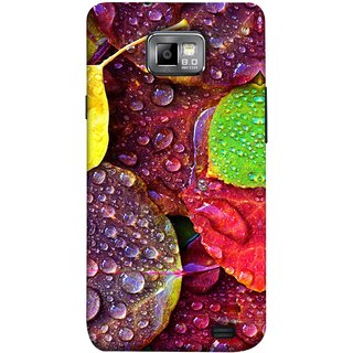 FUSON Designer Back Case Cover for Samsung Galaxy S2 I9100 :: Samsung I9100 Galaxy S Ii (Big Leaf Leaves Lotus Raindrops Forest Raining Season)