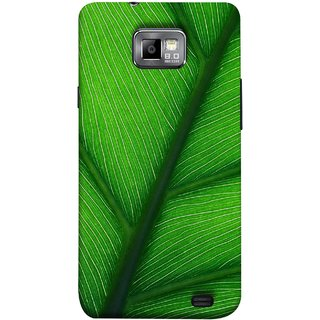 FUSON Designer Back Case Cover for Samsung Galaxy S2 I9100 :: Samsung I9100 Galaxy S Ii (Bright Green Leaf Of Tree Full Of Life Network Of Veins)