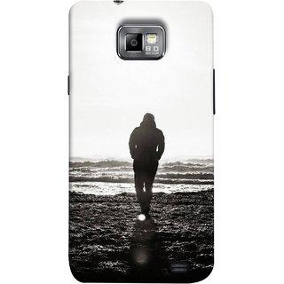 FUSON Designer Back Case Cover for Samsung Galaxy S2 I9100 :: Samsung I9100 Galaxy S Ii (Alone Searching Love Broken Breakup Sunshine )