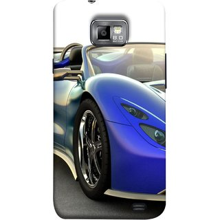 FUSON Designer Back Case Cover for Samsung Galaxy S2 I9100 :: Samsung I9100 Galaxy S Ii (Italia Wild Beautiful Design Tyres Front Lights )