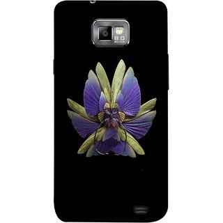 FUSON Designer Back Case Cover for Samsung Galaxy S2 I9100 :: Samsung I9100 Galaxy S Ii (Blue Prange Pink Multicolor Pink Flowers Patterns)