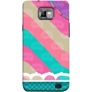 FUSON Designer Back Case Cover for Samsung Galaxy S2 I9100 :: Samsung I9100 Galaxy S Ii (Paper Sheet Design Perfect Back Cover Saree Suits Women Girls )