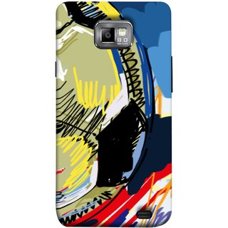 FUSON Designer Back Case Cover for Samsung Galaxy S2 I9100 :: Samsung I9100 Galaxy S Ii (Curved Straignt Acrylic Texture Lines Oil Paint Bright)