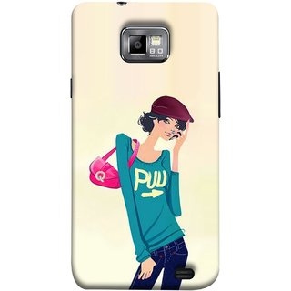FUSON Designer Back Case Cover for Samsung Galaxy S2 I9100 :: Samsung I9100 Galaxy S Ii (Morden Lady Tshirt Jeans Cap Beautiful Girly)