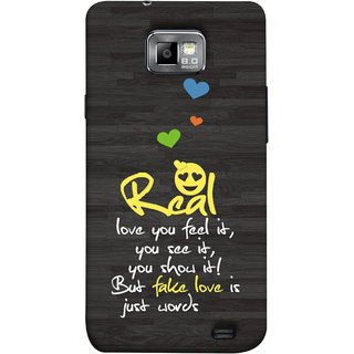 FUSON Designer Back Case Cover for Samsung Galaxy S2 I9100 :: Samsung I9100 Galaxy S Ii (Real Love True False Love Words See It Show It )