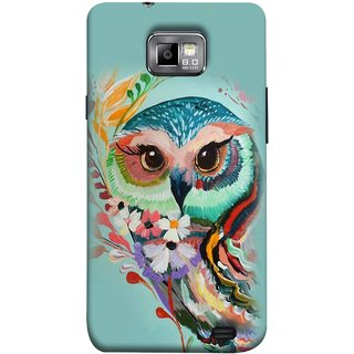 FUSON Designer Back Case Cover for Samsung Galaxy S2 I9100 :: Samsung I9100 Galaxy S Ii (Birds Sitting Alone Waiting For Partner Leaves Leaf Sketch)