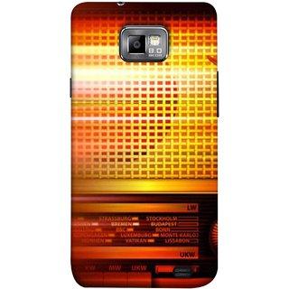 FUSON Designer Back Case Cover for Samsung Galaxy S2 I9100 :: Samsung I9100 Galaxy S Ii (Blur Music Background With Retro Radio Antique )