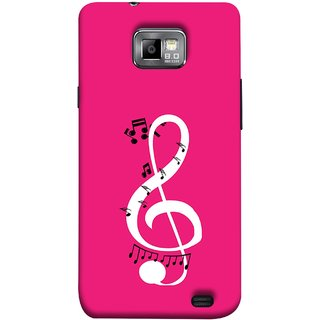 FUSON Designer Back Case Cover for Samsung Galaxy S2 I9100 :: Samsung I9100 Galaxy S Ii (Disc Music Notes Music Lover And Collector )