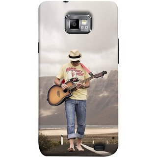FUSON Designer Back Case Cover for Samsung Galaxy S2 I9100 :: Samsung I9100 Galaxy S Ii (Man Walking Road Mountains Sea Shore )