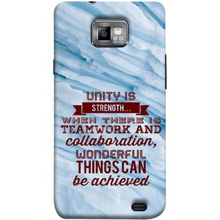 FUSON Designer Back Case Cover for Samsung Galaxy S2 I9100 :: Samsung I9100 Galaxy S Ii (Teamwork And Collaboration Wonderful Things Achieve)