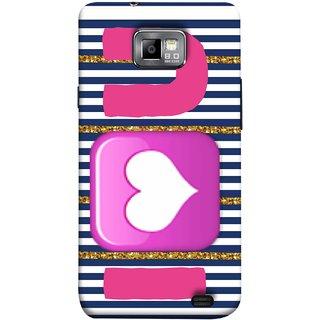 FUSON Designer Back Case Cover for Samsung Galaxy S2 I9100 :: Samsung I9100 Galaxy S Ii (I Love Prem Pyar Lovers Pink Red Hearts Horizontal)