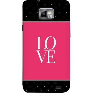 FUSON Designer Back Case Cover for Samsung Galaxy S2 I9100 :: Samsung I9100 Galaxy S Ii (White Dots On Black Background Prem Pyar)