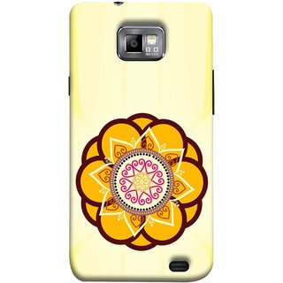 FUSON Designer Back Case Cover for Samsung Galaxy S2 I9100 :: Samsung I9100 Galaxy S Ii (Best Rangoli Patterns Treditional Photo Wallpapers )