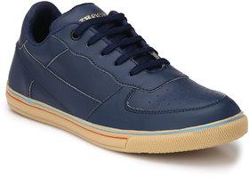 Groofer Men's Blue Lace-up Casual Shoes