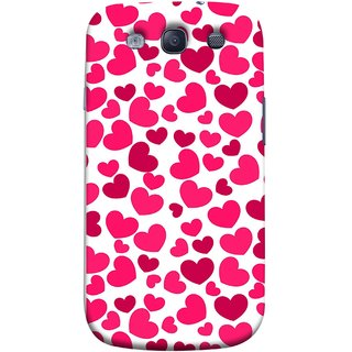 FUSON Designer Back Case Cover for Samsung Galaxy S3 I9300 :: Samsung I9305 Galaxy S Iii :: Samsung Galaxy S Iii Lte (Abstract Love Heart Background Lovers Valentine)